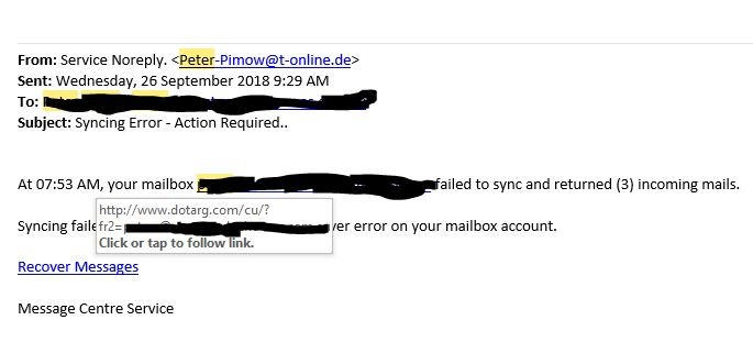 Fake Email Example